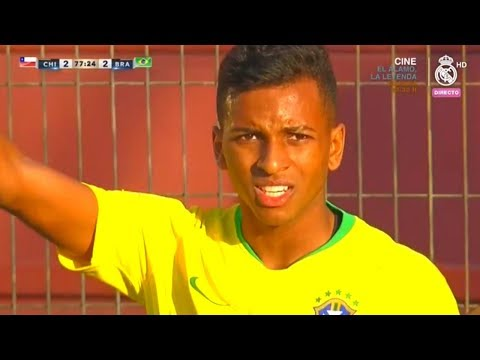 Rodrygo Goes vs Chile U-20 | Every Touch | 15/10/2018