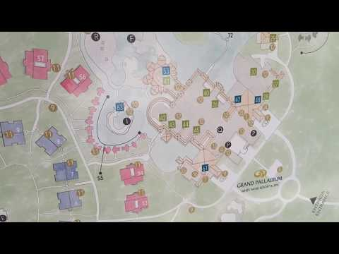 *Map* Grand Palladium Cancun Mexico all restaurant bars and amenities