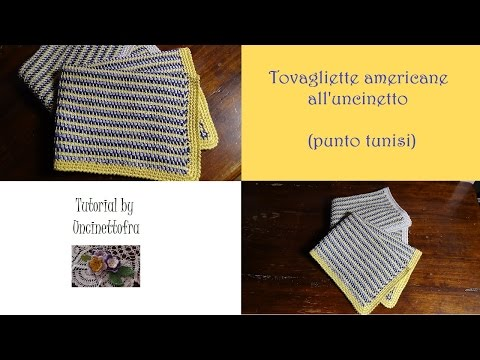 tovaglie americane all'uncinetto tutorial
