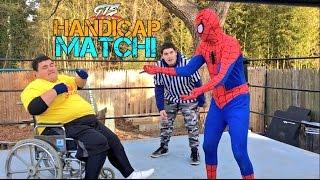 FAT KID IN WHEELCHAIR FIGHTS SPIDER-MAN! CHAMPIONSHIP MATCH GO...