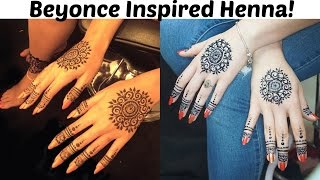 Hi guys this is a a tutorial on how to do Beyonce's henna design she posted yesterday March 9th 2016!I did my design with jagua instead of henna though for a darker stain!Enjoy!Music credit as always for incomptech!