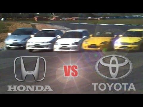 [ENG CC] Toyota vs. Honda – Integra R, Civic R, S2000, Celica, Altezza at Ebisu 1999