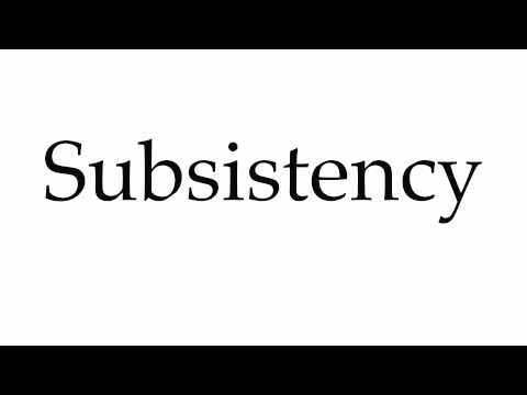 How to Pronounce Subsistency