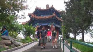 JingShan and BeiHai parks in central Beijing