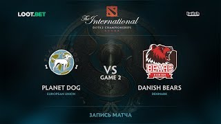 Planet Dog vs Danish Bears, Game 2, The International 2017 EU Qualifier