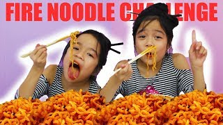 SPICY FIRE NOODLE CHALLENGE!!