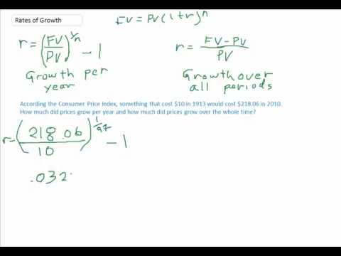 Calculating annual and total growth rates