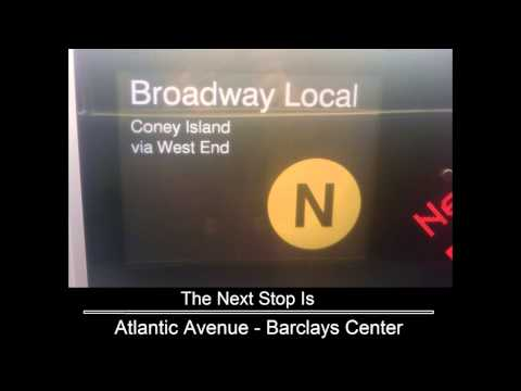 R160 [Updated] N train via R and D line announcements (Brooklyn - Coney Island Bound) (видео)