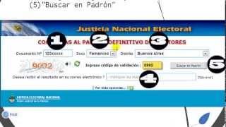www.padron.gob.ar ARGENTINA: Consultá Los Padrones Electorales(DONDE VOTO) 2013