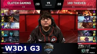 Video Clutch Gaming vs 100 Thieves | Week 3 Day 1 of S8 NA LCS Spring 2018 | CG vs 100 W3D1 G3 MP3, 3GP, MP4, WEBM, AVI, FLV Juli 2018