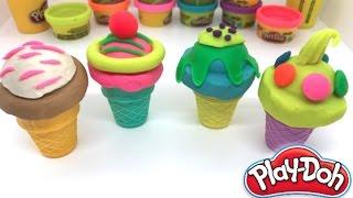 Play Doh Ice Cream Playset Playdough - How To Make Ice Cream For Kids