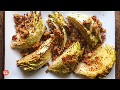 Roasted Cabbage With Blue Cheese Bread Crumbs | Our Favorite Recipes | Cooking Light