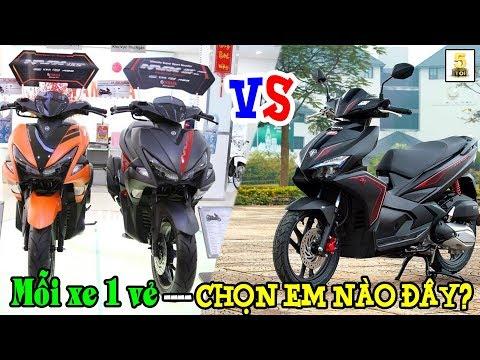 Honda AirBlade 125 VS Yamaha NVX 125 ▶️ Mỗi xe 1 vẻ - Chọn em nào đây?