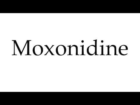 How to Pronounce Moxonidine