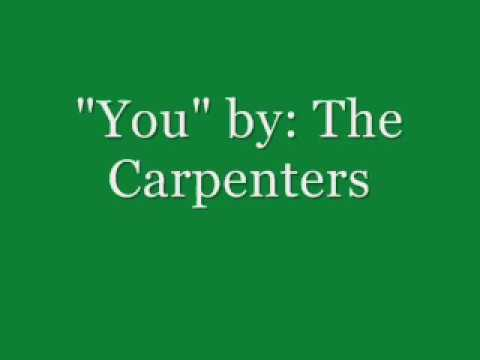 YOU by The Carpenters (Lyrics Video)