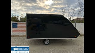 2. 2019 SNOPRO 101x12 Hybrid Aluminum Enclosed 2 Place Snowmobile Trailer with Extreme Weather Package