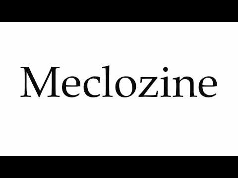 How to Pronounce Meclozine