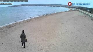 Пляж в Щёлкино, 08.11.2015 - time-lapse с камеры 5