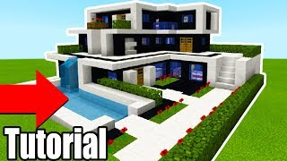 "Minecraft Tutorial: How To Make A The Ultimate Modern House 2018 ""2018 Modern House Tutorial"""