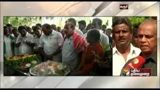 Organic farming veteran Nammalvar funeral