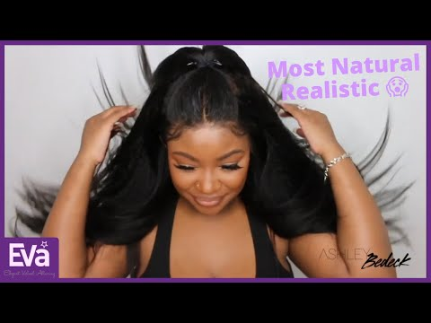 The Most Realistic Glueless Kinky Straight Lace Frontal Wig - Beginner Friendly