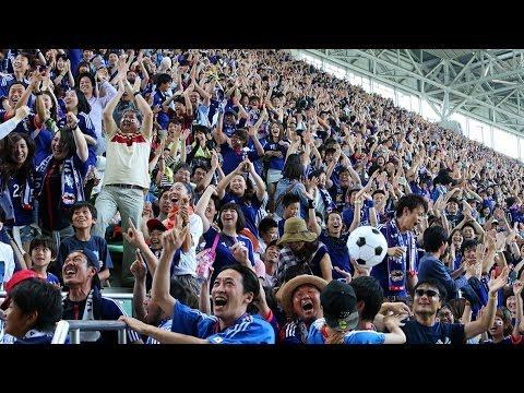 W杯 初戦の日本代表に神戸から声援