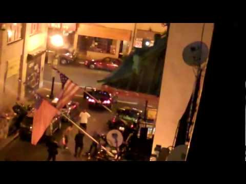 1 Guy takes on 7 gang members with a baseball bat in a street fight [NSFW]