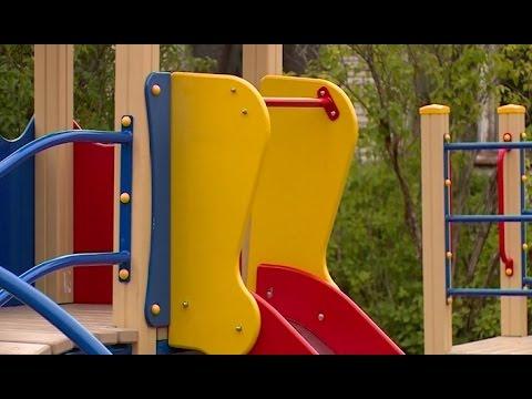 В противотуберкулезном санатории «Хвойное» открыли новую детскую площадку