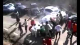 Rally Car Hits Crowd