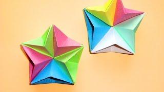 Объемная звезда из бумаги Новогодние поделки оригами