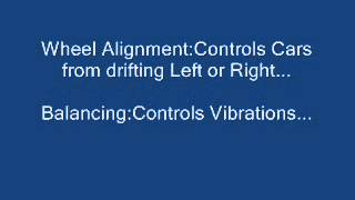Wheel alignment and balancing of cars and their description in detail...