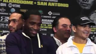 Adrien Broner Flicks Off Marcos Maidana at faceoff - esnews boxing