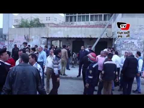 لقطات آثار انفجار قنبلة أمام مترو جامعة القاهرة
