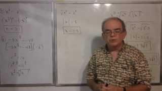 Algebra Intermedia - Lección 38 - B (solución De Ecuaciones Puras O Incompletas)