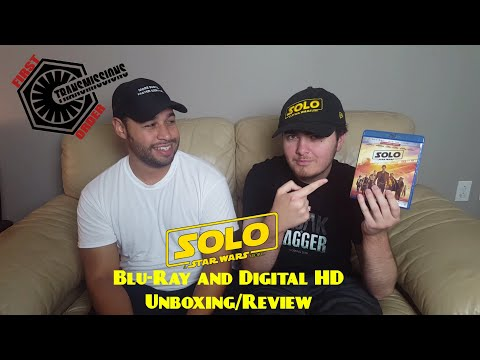 Solo: A Star Wars Story Blu-Ray Unboxing/Quick Review