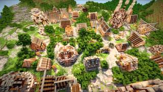Minecraft Timelapse - Populated Place