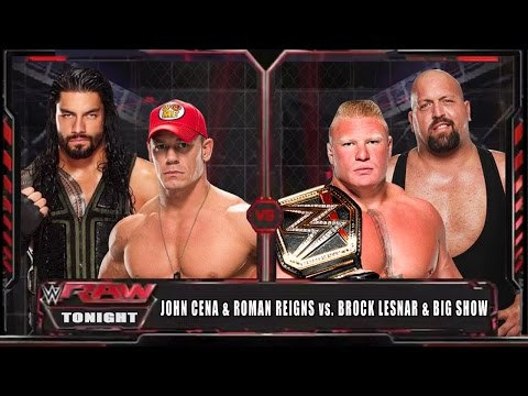 Video WWE RAW 14 - John Cena & Roman Reigns vs Brock Lesnar & Big Show - WWE RAW Full Match HD! download in MP3, 3GP, MP4, WEBM, AVI, FLV January 2017
