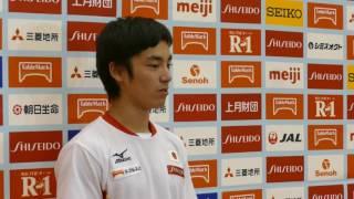 白井健三選手 男子体操強化合宿 記者会見