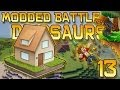 Minecraft: Modded Dinosaur Survival Let's Play w/Mitch! Ep. 13 - HOW TO BUILD A DINO HOUSE!