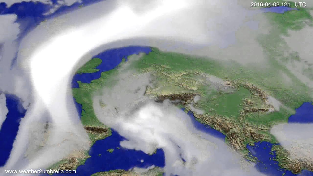 Cloud forecast Europe 2016-03-29