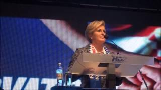 Kolinda Grabar Kitarović u VITEZU 05 10 2014 g