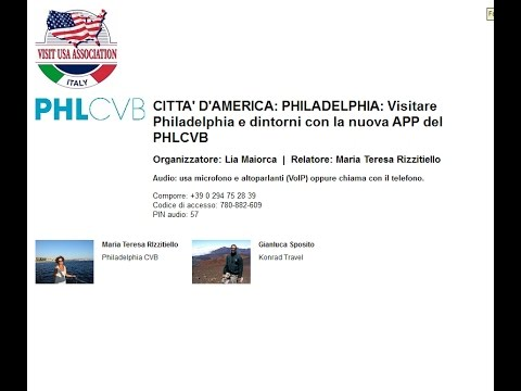Video PHILADELPHIA:Visitare Philadelphia e dintorni con la nuova APP del PHLCVB (24/10/2016)