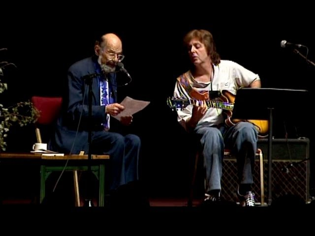 Allen Ginsberg and Paul McCartney playing