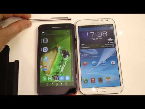 Alcatel OneTouch Scribe HD vs Samsung Galaxy Note II – first look