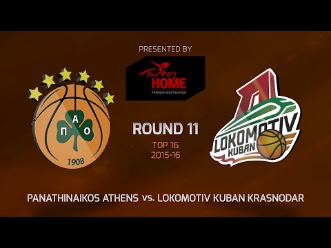 Highlights: Top 16, Round 11, Panathinaikos Athens 84-79 Lokomotiv Kuban Krasnodar