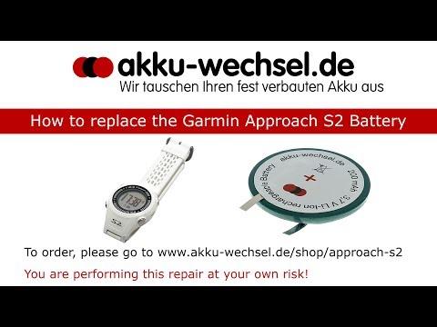 Akku-Wechsel bei der Garmin Approach S2 Golf GPS-Uhr