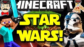 Minecraft THE FORCE AWAKENS Star Wars! Lightsabers, Planet Travel, Droids&More!