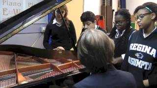 Regina Assumpta Students' visit at Piano Esmonde White shop