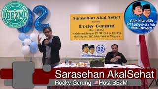 Video Sarasehan Akal Sehat bersama Prof Rocky Gerung di Washington DC USA MP3, 3GP, MP4, WEBM, AVI, FLV Mei 2019