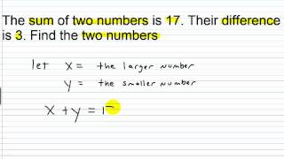 Algebra I Help: Systems of Linear Equations Word Problems Part I